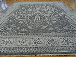 12 x 15 HAND KNOTTED FINE GRAY SERAPI HERIZ ORIENTAL RUG VEGETABLE DYES G22152