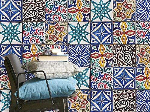 fliesenmuster deko folie fliesen folie sticker aufkleber. Black Bedroom Furniture Sets. Home Design Ideas