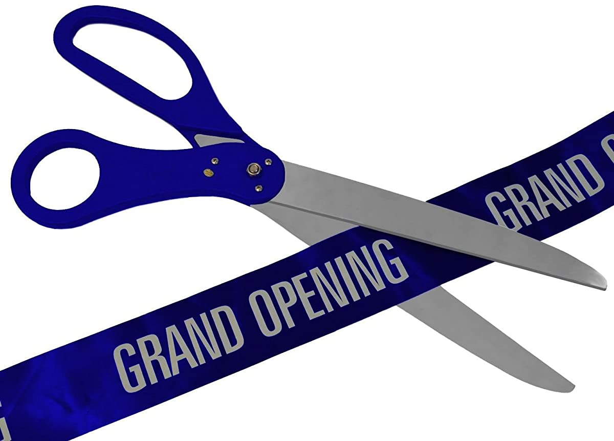 25 Inch Royal Blue Ribbon Cutting Scissors