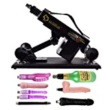 VOVOV Supermatic Love Sex Machine for Men and Women,Thrusting speed Adjustable,Machinegun Fast Thrust Masturbation Toy, A Variety of Accessories for User (Type-W, Black)