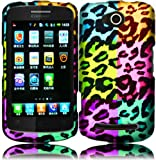 For Coolpad Quattro 4G 5860E Hard Design Cover Case Colorful Leopard