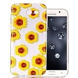Galaxy J7 V Clear Case, Galaxy J7 Sky Pro Case, Galaxy J7 Perx Silicone Case Aeeque Slim Fit Anti-Slip Soft TPU Rubber Protective Cover Case for Samsung Galaxy J7 V 2017 / J7 Prime S727VL, Sunflower