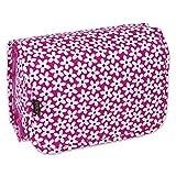 JODA Ladies Bright Pink & White Flower Hanging Travel Toiletry & Cosmetic Wash Bag 113-171