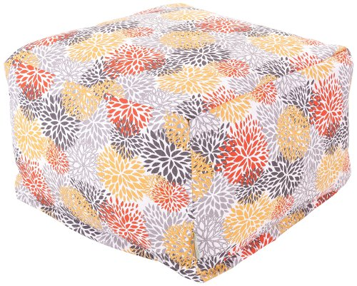 Majestic Home Goods Blooms Ottoman Large Citrus Furniture Outdoor Furniture Outdoor Ottomans
