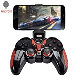 C-Zone 7 in 1 Android Wireless Game Controller, Wireless Phone Controller For Android Phone Samsung Huawei, Google Meizu oppo vivo series of Android devices/ Tablet / TV Box (Color: BK+RED)