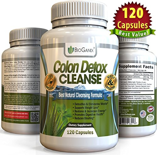 Colon Detox Cleanse & Weight Loss Pills (120 Capsules) Quick 15-Day Ultimate Intensive Herbal Supplement Formula - Total Cleansing Flushes Toxins & Eliminates Waste (Super Colon Blow compare prices)