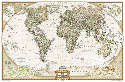 World Executive Political Wall Map (Enlarged Size & Tubed World Map)