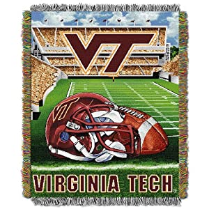 Virginia Tech Woven Tapestry Blanket