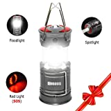 Lantern, COSOOS rechargeable camping lantern with Built-in Battery,LED Lantern Emergency light,4 light Mode, Red Lamp,Best for Ourdoor,Camp,Tent,Hiking,Hurricane,Support AA Battey(Not Included) (Color: Brightest USB Rechargeable Camping Lantern, Tamaño: Chargeable foldable camping lantern)