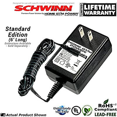 "Schwinn 202, 206, 213, 223, 226 & 231 Recumbent Exercise Bike Home Gym Power® ""Wall Plug"" AC Adapter / Power Cord"