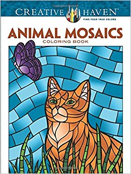 creative haven animal mosaics coloring book adult coloring jessica mazurkiewicz. Black Bedroom Furniture Sets. Home Design Ideas