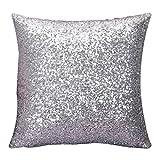 Susenstone®Solid Color Glitter Pailletten Dekokissen Fall...
