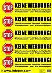 Keine Werbung! 5 gelbe Briefkastenauf...