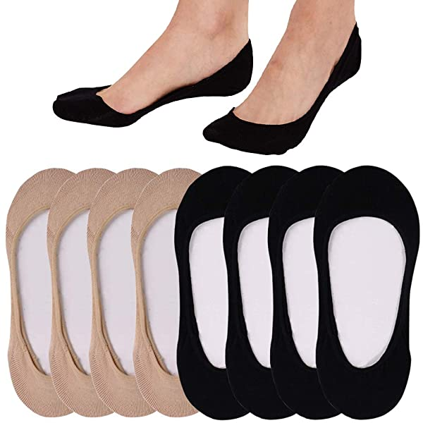 10 Pack Women/'s Ultra Low Cut Nonslip Invisible No Show Liner Socks for Flats