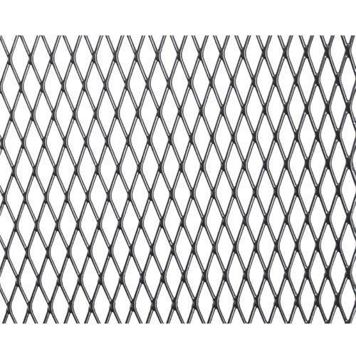 Kühlergrill Rautengitter Alu 100x25cm kleine Waben schwarz Renngitter Tuning