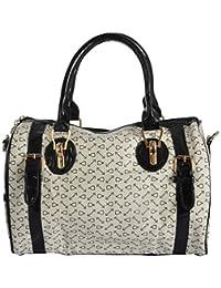 Limit Women's PU Handbag (White, IDB10)