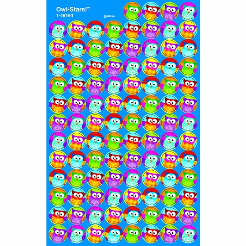 Trend Enterprises Owl-Stars! Super Spots Stickers, 800 per Package (T-46194)