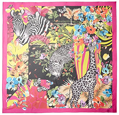 Salvatore-Ferragamo-Womens-Patterned-Scarf-Fuxia
