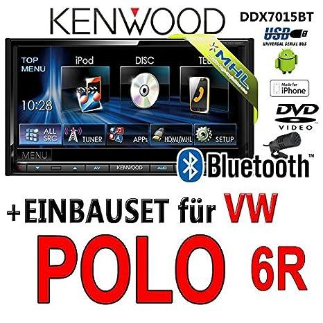 VW polo 6R-kenwood dDX7015BT 2-dIN multimédia hDMI/mHL dVD bluetooth uSB avec kit de montage