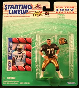 WILLIAM ROAF NEW ORLEANS SAINTS 1997 NFL Starting Lineup Action Figure &... by Starting Line Up