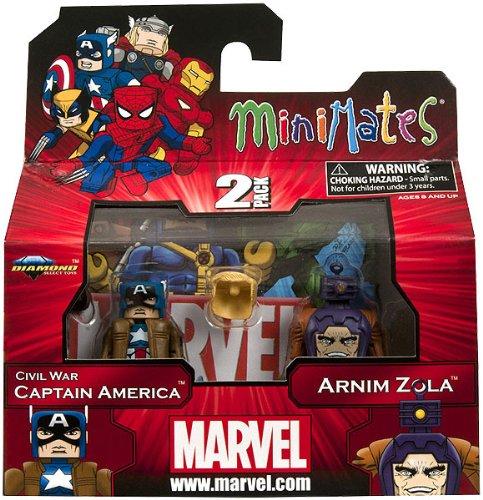 Marvel Minimates Series 42 Civil War Captain America & Arnim Zola