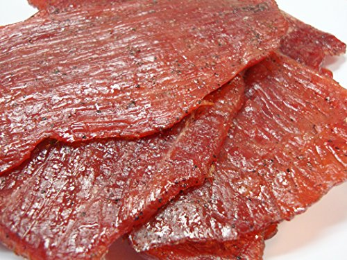 Oriental Flame-Grilled Artisanal Beef Jerky - Black Pepper Flavored (1/4 Pound)