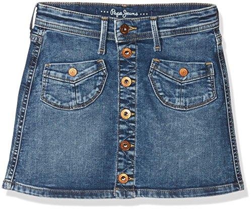 Pepe Jeans Maddie, Gonna Bambina, Blu (Denim Bleu), 10 Anni (Taglia Produttore: 10 Ans )