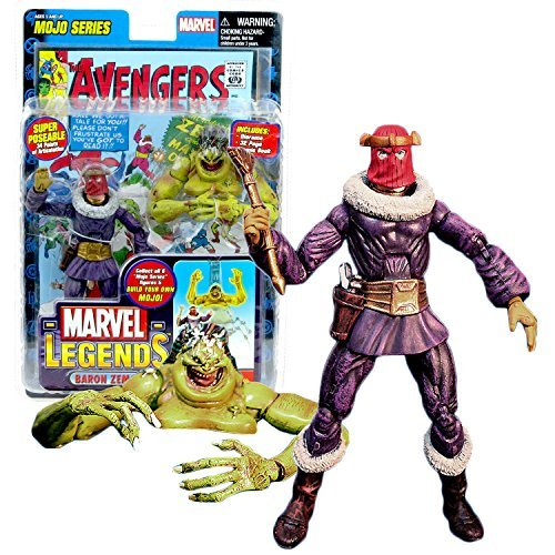 ToyBiz Year 2006 Marvel Legends Mojo Series 6 Inch Tall Action Figure - BARON ZEMO with 34 Points of Articulation, Golden Eagle Scepter, Comic Book and Mojo's Head and Upper Torso (Marvel Legends Baron compare prices)