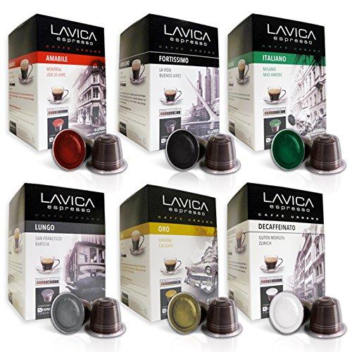 ESPRESSO VARIETY PACK (100 Count) Lavica Discovery Series Nespresso Compatible Coffee Capsules (Lavazza Nespresso Pods compare prices)