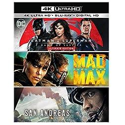 Batman v Superman: Dawn of Justice Ultimate Edition / Mad Max: Fury Road / San Andreas (Amazon Exclusive) [4K Ultra HD + Blu-ray]