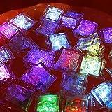 Allumin 36 Pcs Ice Cube LED Light Flashing Submersible Multi-Color Liquid Sensor Glow Lighting for Drinking Wine Wedding Party Bar Decoration (36)