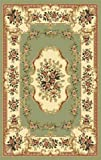 903 Green 5x7 (5'2x7'2) Traditional Area Rug Carpet