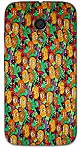 Timpax protective Armor Hard Bumper Back Case Cover. Multicolor printed on 3 Dimensional case with latest & finest graphic design art. Compatible with Motorola Moto -G-2 (2nd Gen )Design No : TDZ-27835