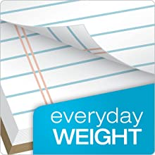 TOPS The Legal Pad Legal Pad, 8-1/2 x 11-3/4 Inches, Perforated, White, Legal/Wide Rule, 50 Sheets per Pad, 12 Pads per Pack (7533)