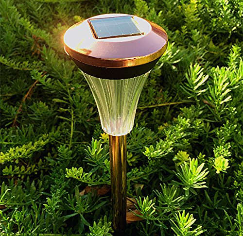 10PACK Copper Finish Staniless Steel Solar Light Promotion
