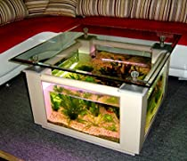 57 Gallon Square Coffee Table Aquarium, Fish Ready with Light and Filter