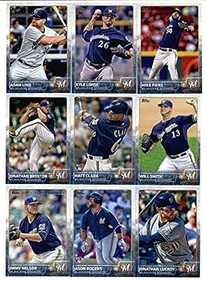 2015 Topps Baseball Cards Milwaukee Brewers Team Set (Series 1 & 2 - 24 Cards) Including Matt Garza, Lyle Overbay, Scooter Gennett, Khris Davis, Jean Segura, Ryan Braun, Mark Reynolds, Zach Duke, Gerardo Parra, Carlos Gomez