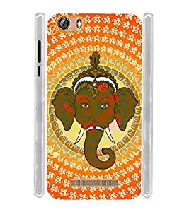 Pattern Ganesha OM Soft Silicon Rubberized Back Case Cover for Gionee Marathon M5