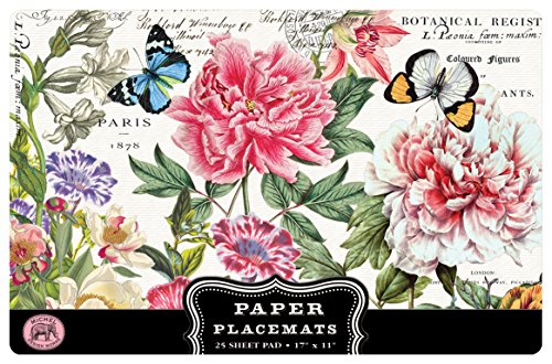 Michel Design Works 25 Count Peony Paper Placemats цены онлайн