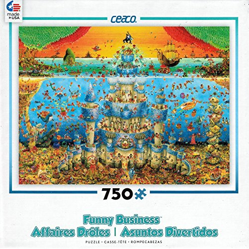 Ceaco Funny Business - Castle Aqua Puzzle