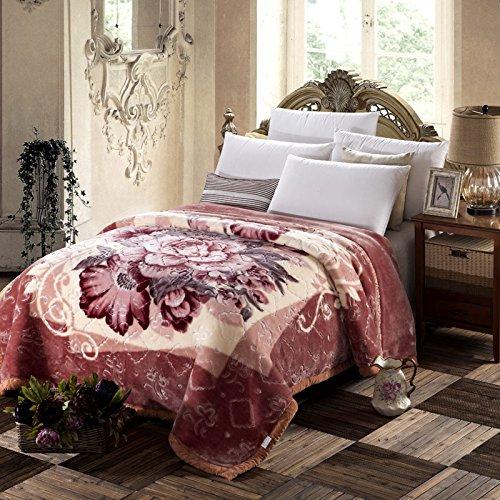BDUK Aria condizionata e coperta di Raschel pisolino pomeridiano coperte doppia coperta di corallo estate coperte di nozze ,200cmx230cm(8 catty ),KX profumo è come un sogno