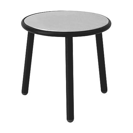 Yard - Table d'appoint de jardin Ø 50cm noir/clair gris/brillant/Ø 50cm / H: 50cm