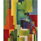 Art Panel - Colored Forms (II) By August Macke