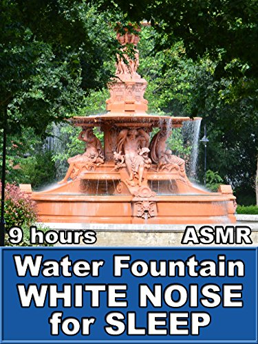 Water Fountain White Noise for Sleep 9 Hours ASMR