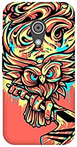 The Racoon Lean Hockey Owl hard plastic printed back case/cover for Moto G 2nd Gen
