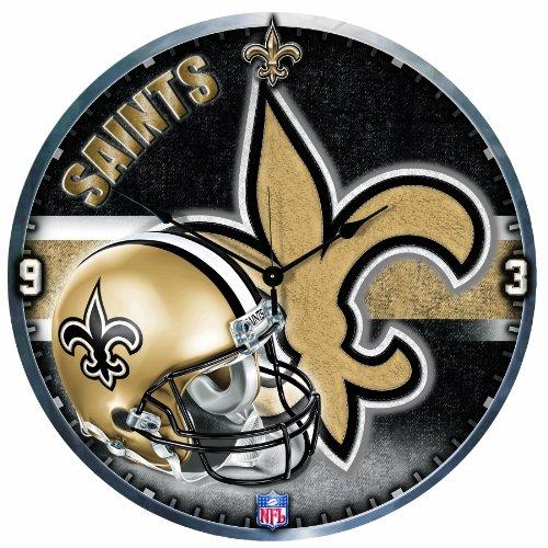 Wincraft New Orleans Saints High Definition 18 inch Clock