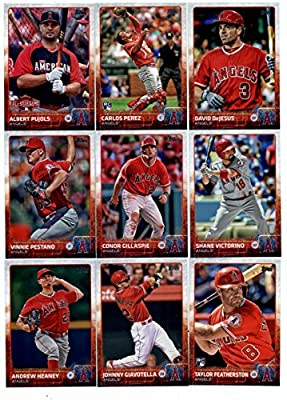 2015 Topps Baseball Cards Los Angeles Angels Complete Master Team Set (Series 1 & 2 + Update - 41 Cards) With Tyler Skaggs, Gordon Beckham, C.J. Cron, Howie Kendrick, Garrett Richards, Jered Weaver Team Card, Erick Aybar, Mike Trout, Josh Hamilton