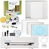 Silhouette Curio Digital Crafting Machine with Fabric Starter Kit Bundle (Color: White)