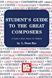 img - for Mel Bay Student's Guide to the Great Composers book / textbook / text book