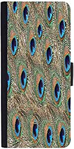 Snoogg Peacock Feathersdesigner Protective Flip Case Cover For Apple Iphone 5C